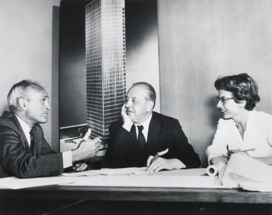 Lambert with Mies and Philip Johnson.