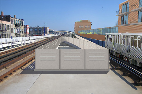 Rendering of the proposed Belmont Bypass. (Courtesy CTA)