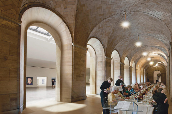 New space in the museum. (Courtesy Gehry Partners)