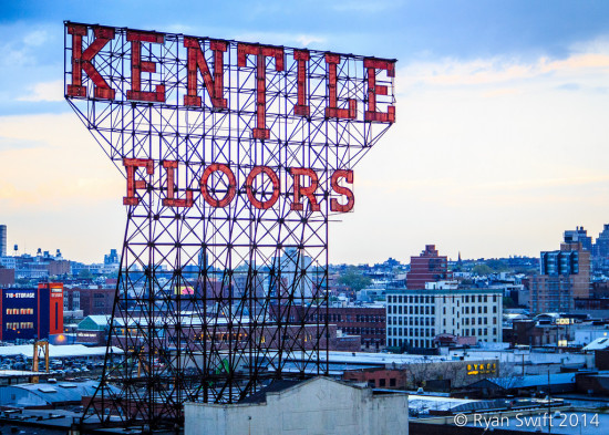 The Kentile sign at dusk. (Flickr / Swifty)
