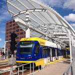 Minneapolis Metro Transit Trains at Target Field Station. (Mark Danielson / Flickr)
