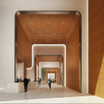 The lobby of 55 Hudson Yards.. (Related)