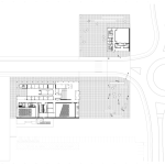 The structure's lower floors are bisected by a road leading into campus. (Courtesy TEN Arquitectos)