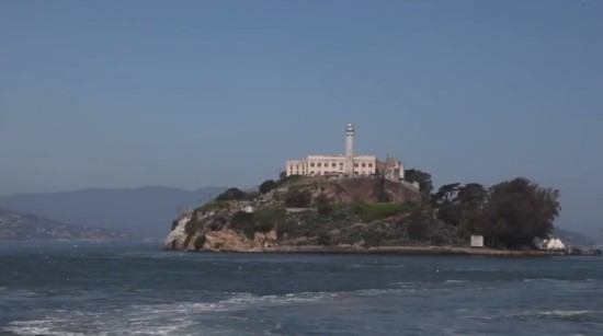 Alcatraz seen from San Francisco Bay (For-Site Foundation)