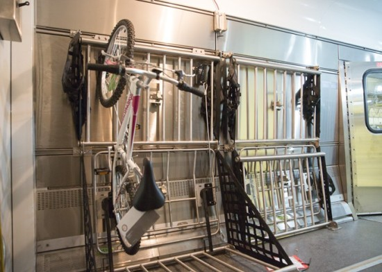 The new bike racks. (Courtesy Amtrak)