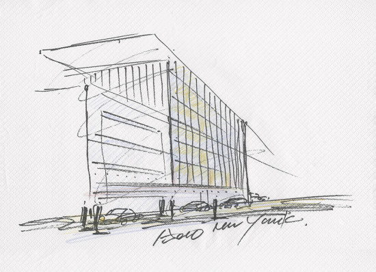 An Ando sketch of the site.