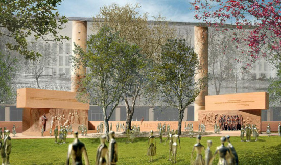 Proposed design for the 4-acre Eisenhower Memorial. (Courtesy Gehry Partners)
