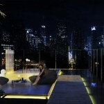 Roof terrace at night. (Pierre Levesque via PSFK and Prodigy Network)