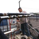 The structure was assembled at Ramirez Ironworks. (Glen Kinoshita)