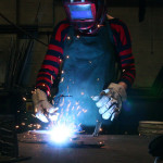 Unable to locate a digital fabricator, the architects worked with two local metalworking companies to fabricate the installation. (Glen Kinoshita)