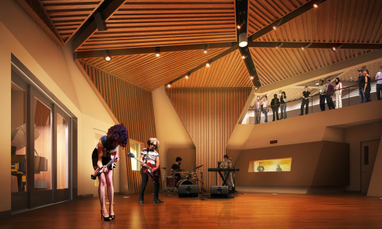 New recording studio (KCRW/Clive Wilkinson Architects)
