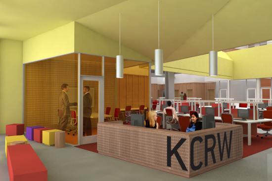 New KCRW offices (KCRW/ Clive Wilkinson Architects)