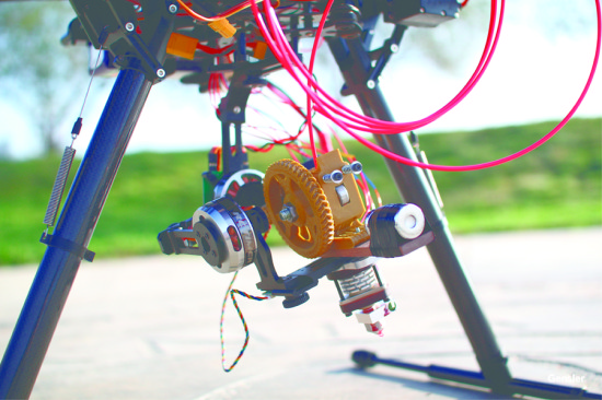 Closeup of MUPPette's 3D printer (Gensler)