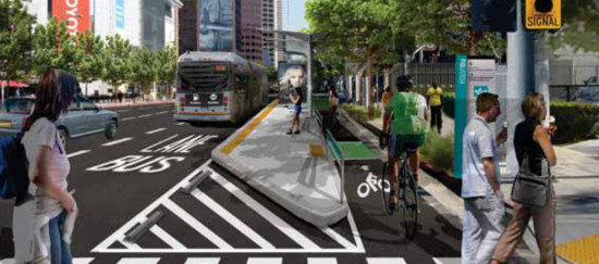 MyFigueroa would transform 4.5 miles of streets between South Los Angeles and downtown. (Courtesy MyFigueroa)