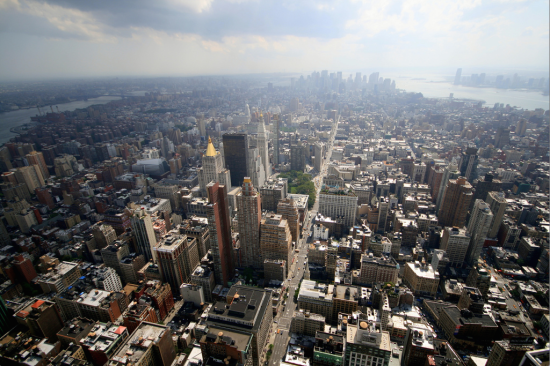 High above Manhattan. (FLICKR / CARUBA)