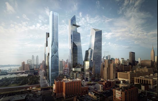 The Hudson Yards site. (Related)