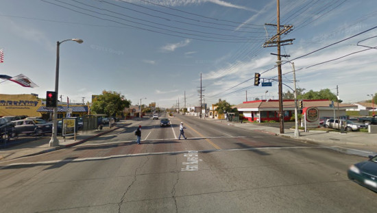 Van Nuys Blvd between Laurel Canyon Blvd and San Fernando Rd. (Google Maps)