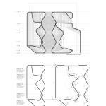 The bent pipes produce dynamic section profiles. (Courtesy Warren Techentin Architecture)