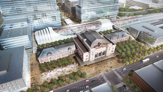An areal view of the station (Courtesy Skidmore, Owings & Merrill)