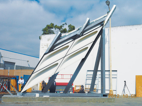 Mockup of The Broad's GFRC panels (Matt Construction)