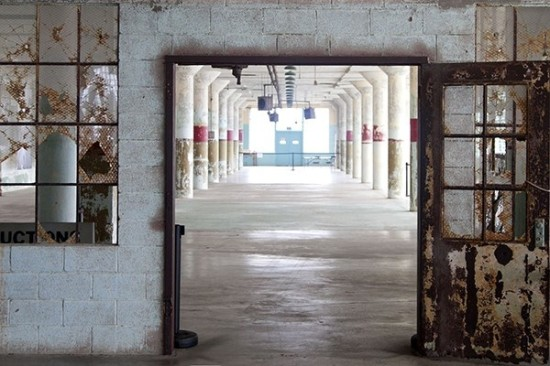 The first floor of the New Industries Building on Alcatraz Island. (Jan Stürmann/For-Site Foundation)