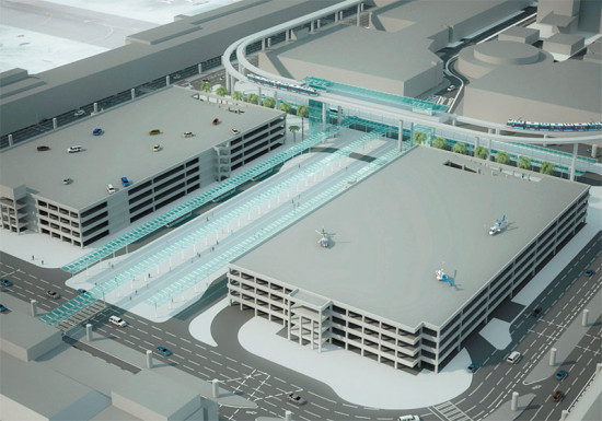 Early LAWA rendering of the people mover to LAX (LAWA)