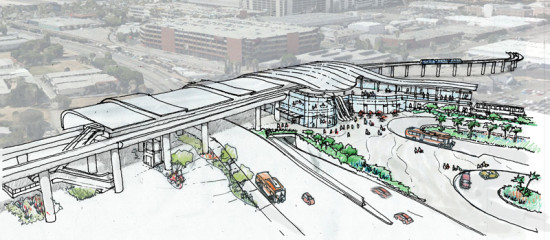 Staff rendering of proposed 96th street station (METRO)