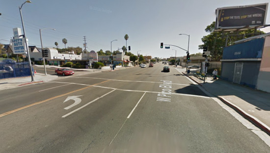 Pico Blvd. between Hauser and Fairfax. (Google Maps)