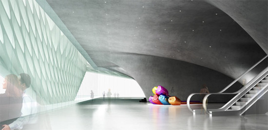 Rendering of the Veil as seen from the building's interior (DS+R)
