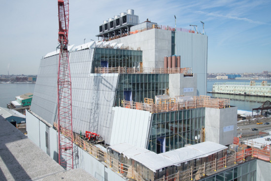 Construction of the new Whitney Museum in February 2014. (Timothy Schenck)
