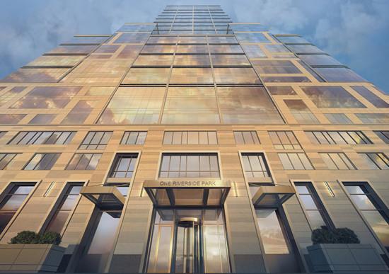 40 Riverside's facade. (Courtesy Extell)