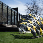 FIBERwave PAVILION is designed to showcase carbon fiber as an architectural material. (Courtesy Alphonso Peluso)