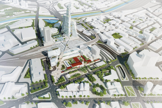 Most recent conceptual rendering of LA's Union Station Master Plan (Metro)