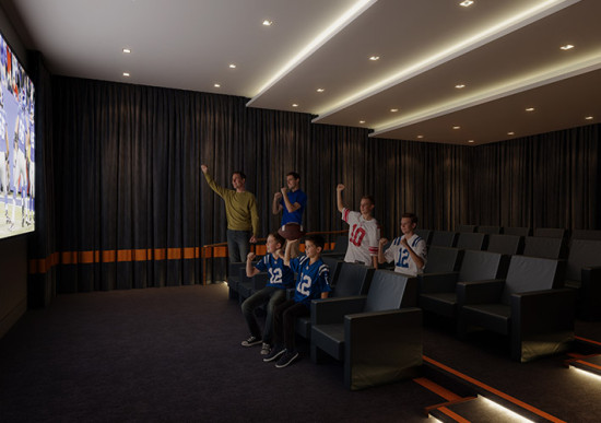 The screening room. (Courtesy Extell)