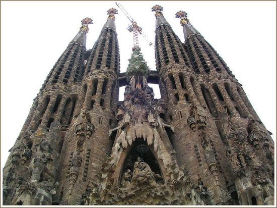 Gaudi's Sagrada Família in Barcelona. (Flickr / Fulvio)