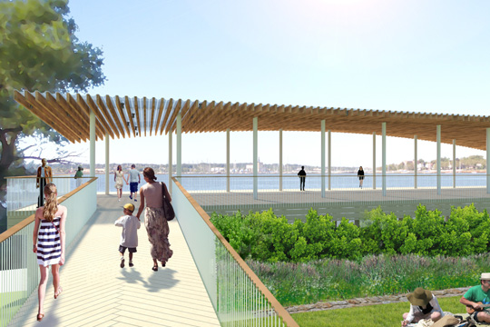Conference House Park Pavilion. (Sage and Coombe Architects and MKW & Associates)