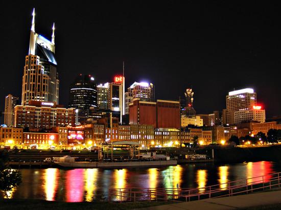 Nashville at night. (joshunter / Flickr)
