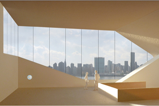 Hunters Point Community Library. (Steven Holl Architects)