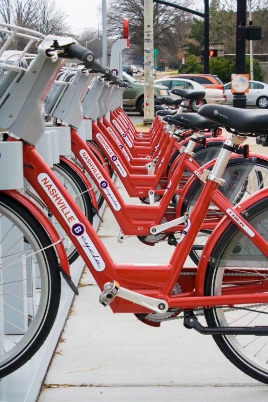A B-Cycle station in Nashville. (derekbruff / Flickr)