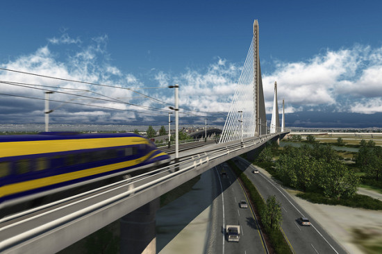Conceptual rendering of the Fresno to Bakersfield route (CA High Speed Rail)