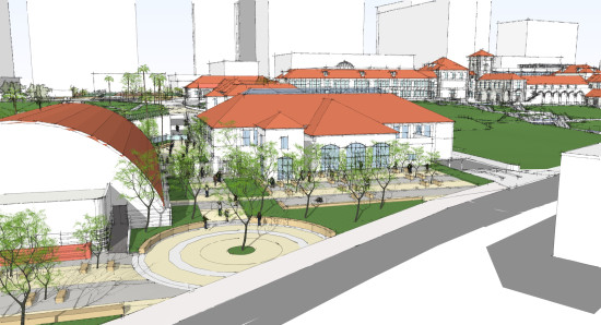 Rendering of the new campus (DLR Group).