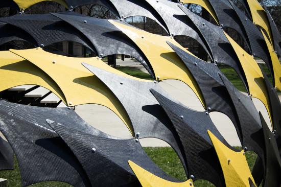 "FIBERwave PAVILION's 86 component ""shells"" were inspired by bivalve organisms. (Courtesy Alphonso Peluso)"
