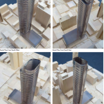 Models of the structure. (Courtesy Adrian Smith + Gordon Gill)