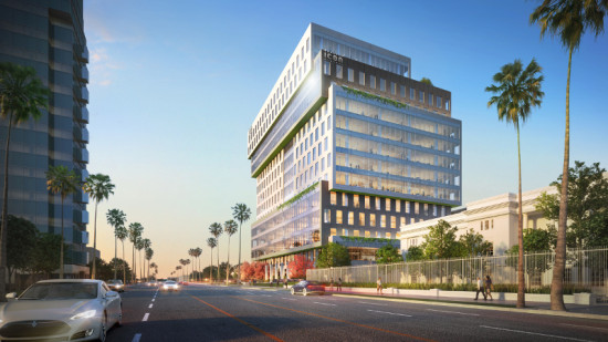 The 14-story Icon at Sunset Boulevard will house office space for creative and entertainment professionals. (Courtesy Gensler)