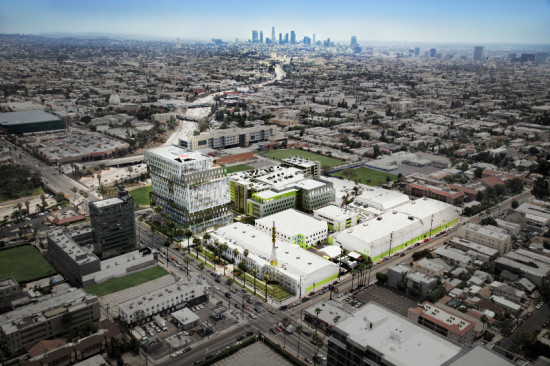 The office tower is part of a $150 million expansion of Sunset Bronson Studios. (Courtesy Gensler)