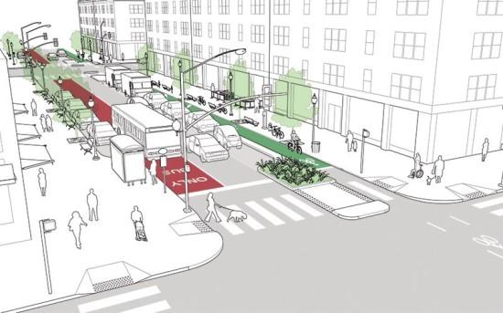 A proposed street design by NACTO. (Courtesy NACTO)