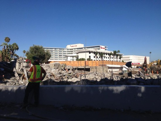 The Beverly Hilton-adjacent Robinsons-May department store has been demolished. (Kimberly Reiss)