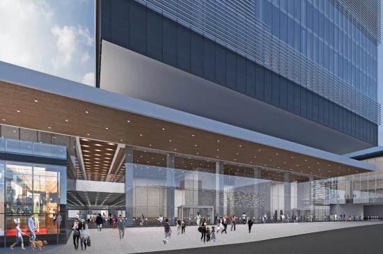 Ground-level at convention center redevelopment. (Courtesy Gresham, Smith & Partners)