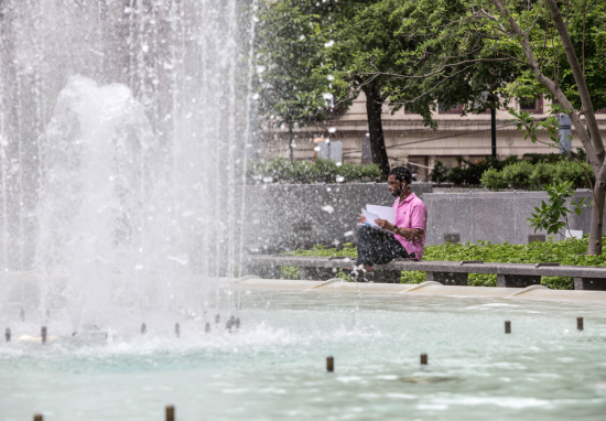 The fountains. (Courtesy Pittsburgh Parks Conservancy)