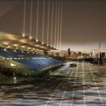 Stadium at night. (Courtesy Arseni Varabyeu)